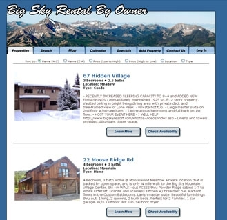 Big Sky Vaction Rentals by Owner